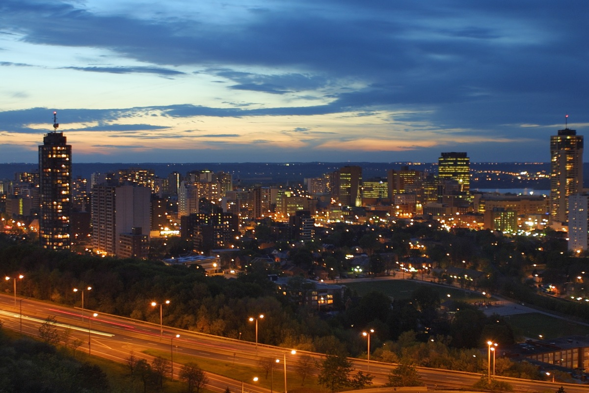 City of Hamilton at night